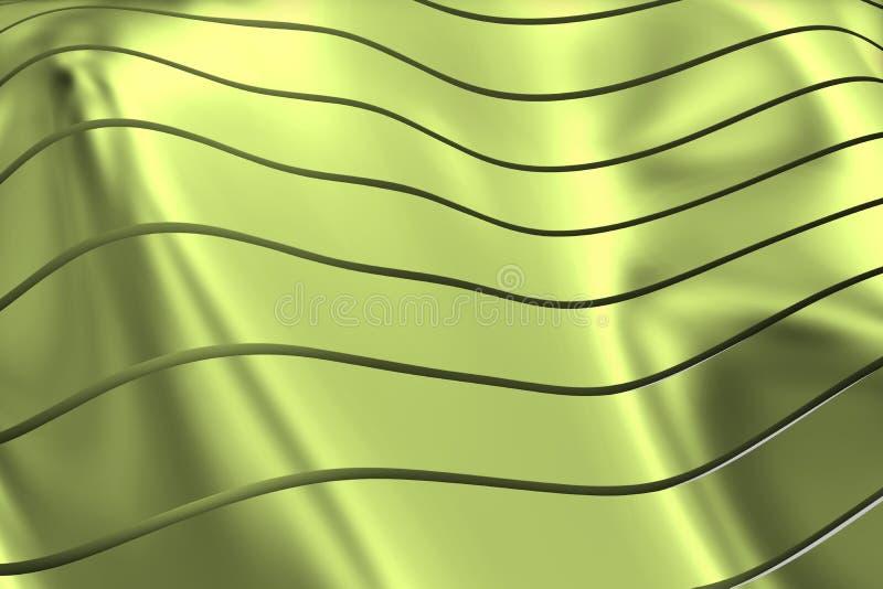 ИЗОБРАЖЕНИЕ КРИВЫХ И ЛИНИЙ НАД МЯГКИМ И ЗЕЛЕНОВАТЫМ ЦВЕТОМ METALC иллюстрация вектора