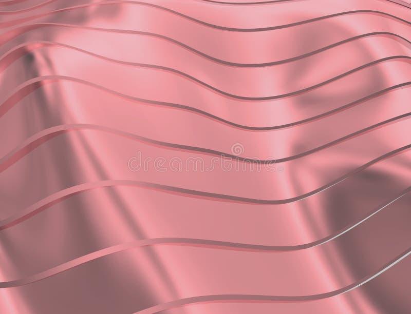 ИЗОБРАЖЕНИЕ КРИВЫХ И ЛИНИЙ НАД ПУРПУРОМ И ЦВЕТОМ МЕТАЛЛА иллюстрация вектора