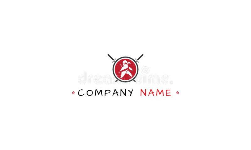 Изображение логотипа вектора ребенк Ninja иллюстрация вектора