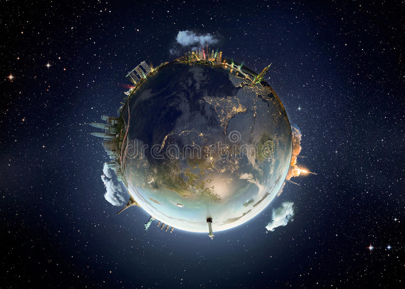 Изображение метафоры нашей планеты земли стоковое фото rf