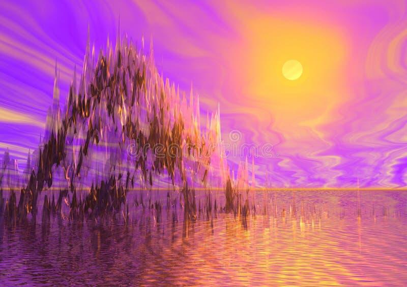 изображение миража туманное иллюстрация вектора