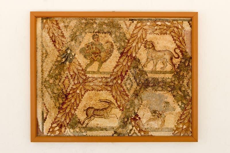 Изображение мозаики в Карфагене, Тунисе, Африке стоковые изображения rf
