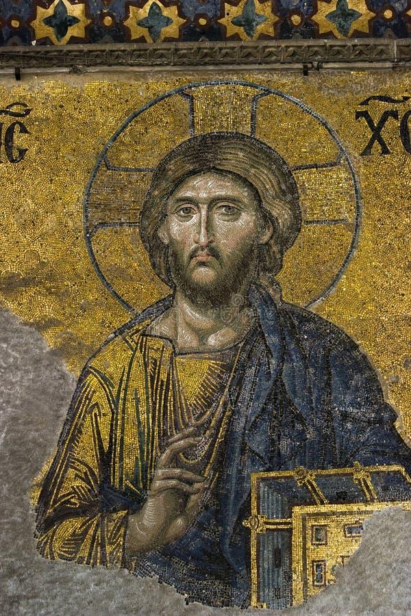 Изображение мозаики Иисуса стоковая фотография rf