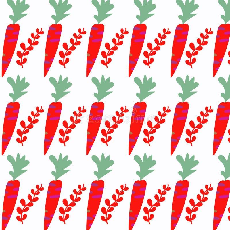 Изображение моркови здоровое абстрактное милое, дизайн бесплатная иллюстрация