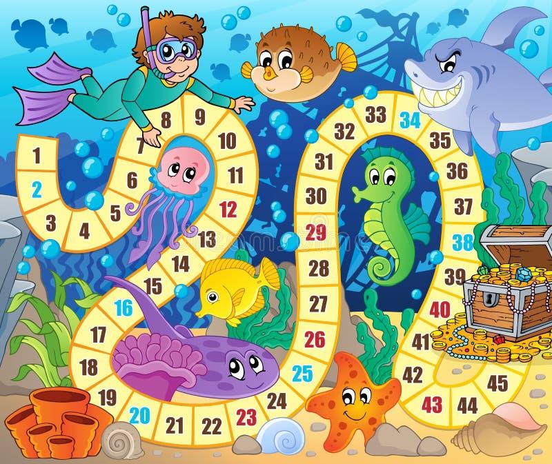 Изображение настольной игры с подводной темой 2 бесплатная иллюстрация