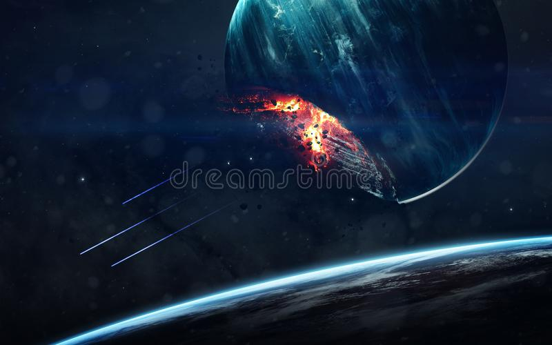 Изображение научной фантастики науки о космосе Элементы этого изображения поставленные NASA стоковые изображения