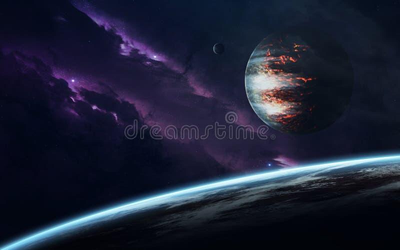 Изображение научной фантастики науки о космосе Элементы этого изображения поставленные NASA стоковые изображения rf
