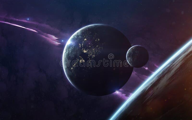 Изображение научной фантастики науки о космосе Элементы этого изображения поставленные NASA стоковая фотография rf