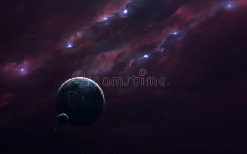Изображение научной фантастики науки о космосе Элементы этого изображения поставленные NASA стоковая фотография