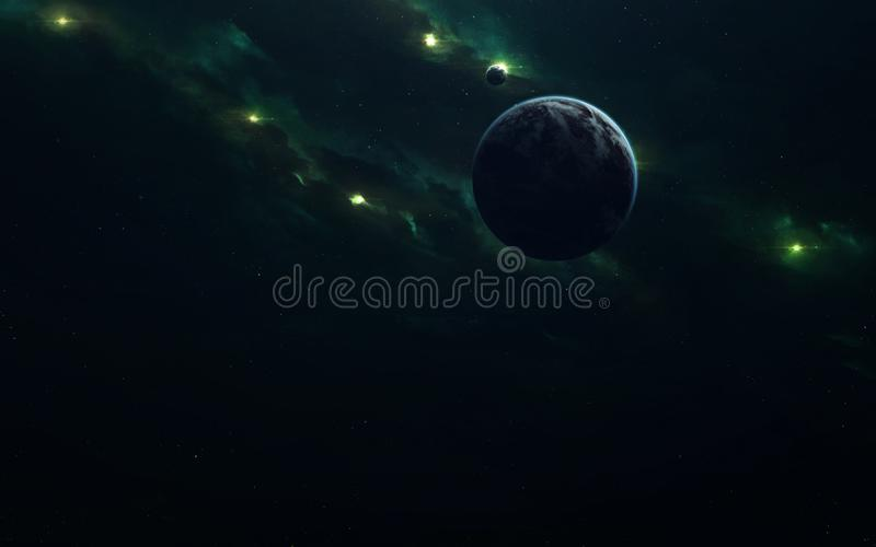 Изображение научной фантастики науки о космосе Элементы этого изображения поставленные NASA стоковое изображение