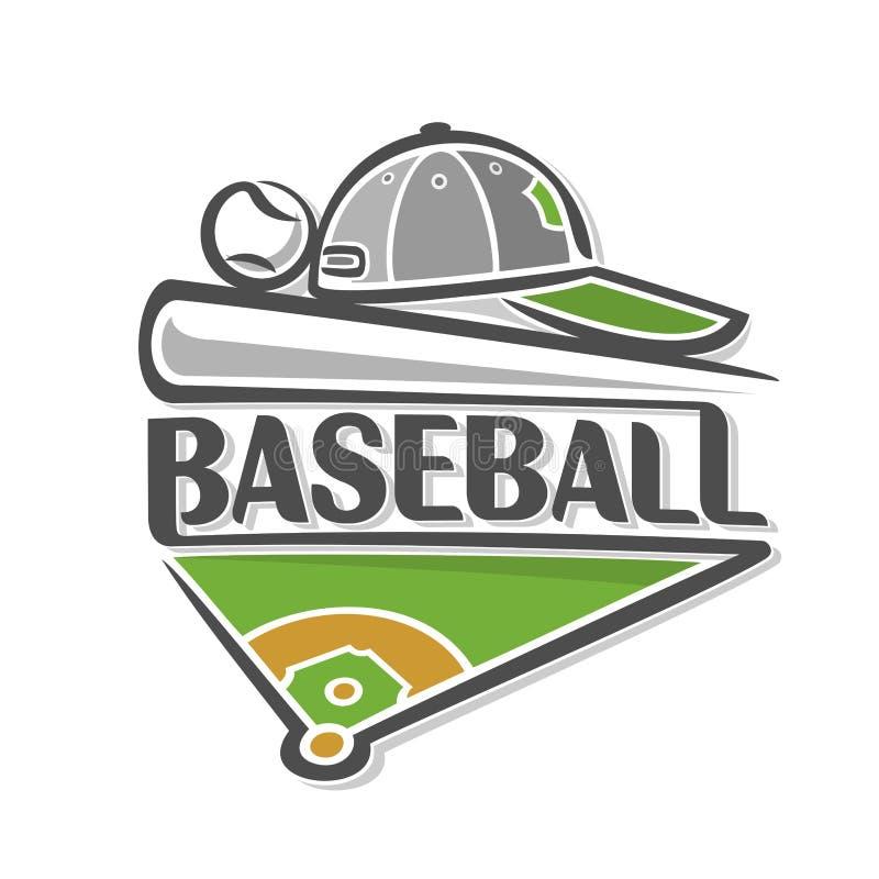 Изображение на теме бейсбола иллюстрация вектора