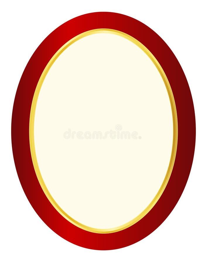 изображение овала рамки иллюстрация штока