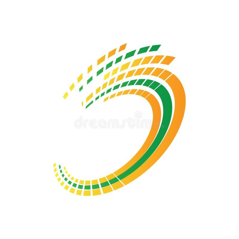Изображение логотипа абстрактной технологии иллюстрация вектора