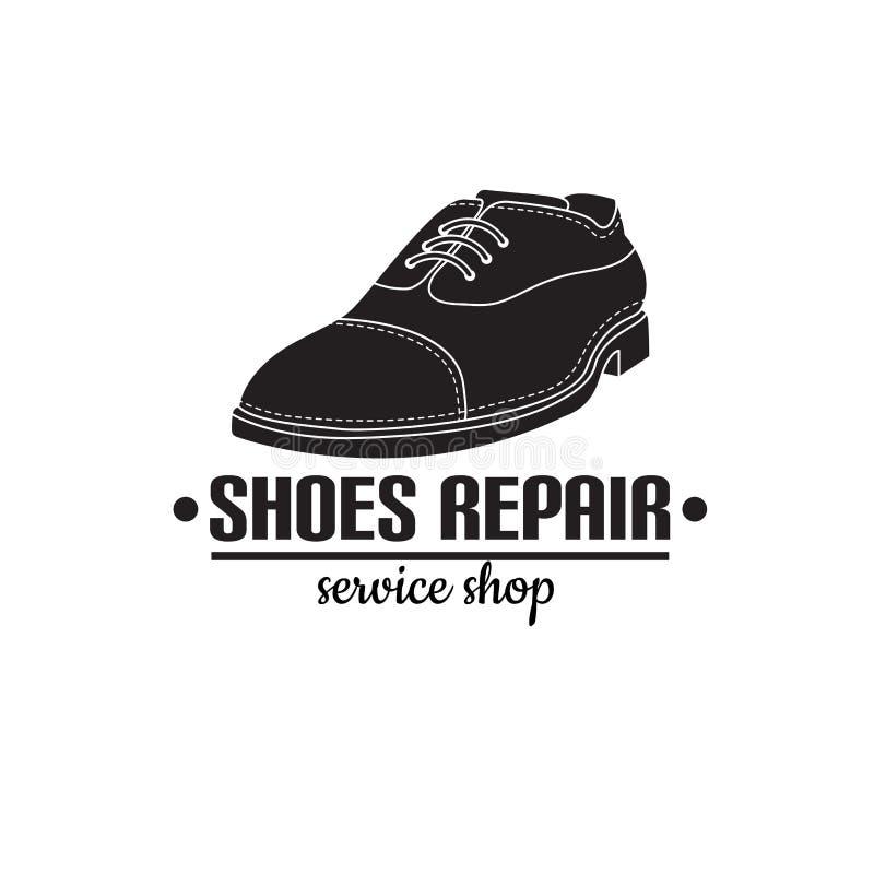 изображение логотипа ремонтных услуг ботинка Концепция для ремонта мастерской иллюстрация вектора