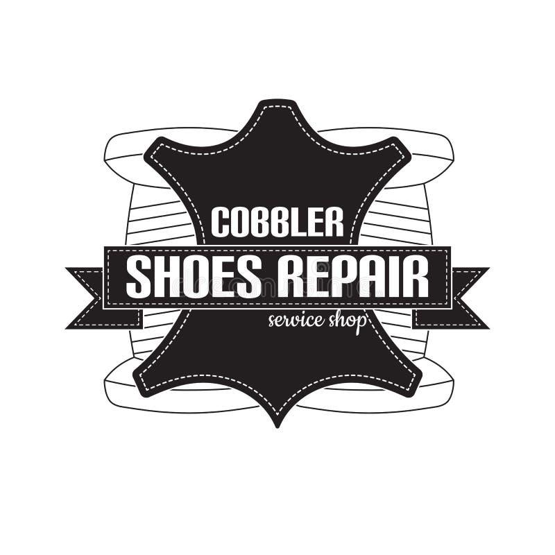 изображение логотипа ремонтных услуг ботинка Концепция для ремонта мастерской бесплатная иллюстрация