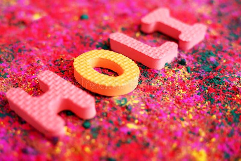 Изображение органического multi цвета для фестиваля holi стоковое фото