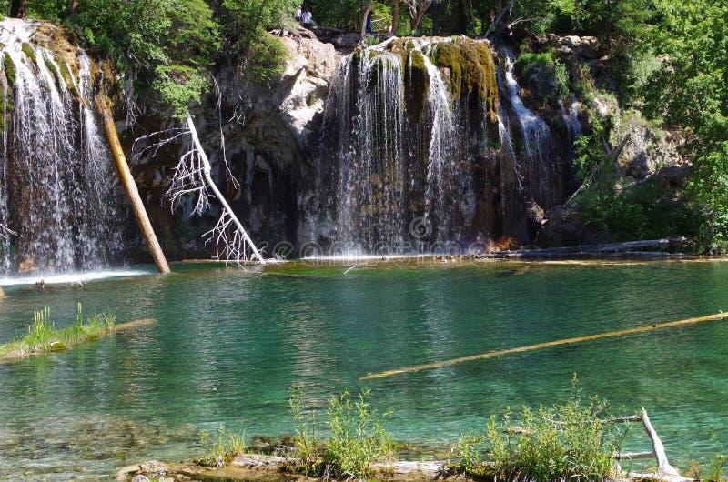 Изображение падения и озера воды стоковые изображения rf