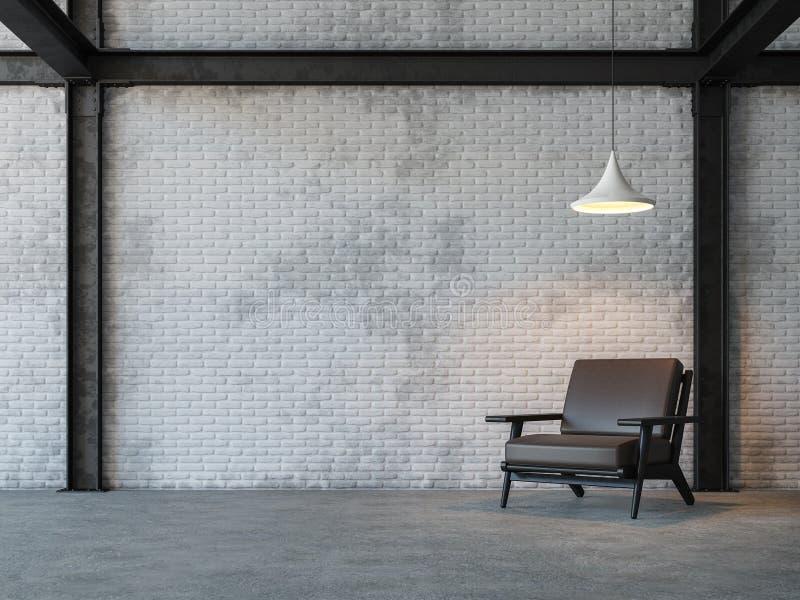 Изображение перевода живущей комнаты 3d стиля просторной квартиры бесплатная иллюстрация