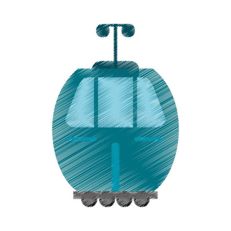 изображение перехода фуникулера чертежа иллюстрация вектора