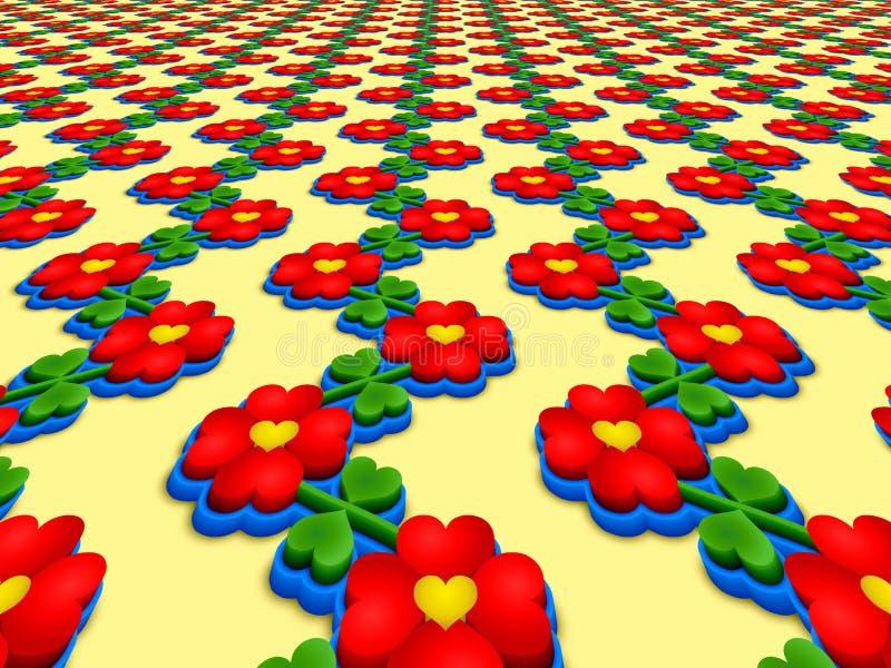 Изображение перспективы цветков сердца бесплатная иллюстрация