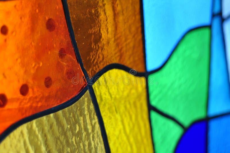 Изображение пестротканого витража с скачками блоком стоковая фотография