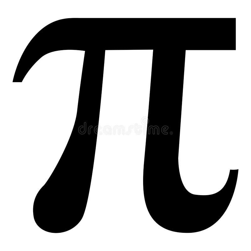 Изображение плоского стиля иллюстрации цвета черноты значка Pi символа простое иллюстрация вектора