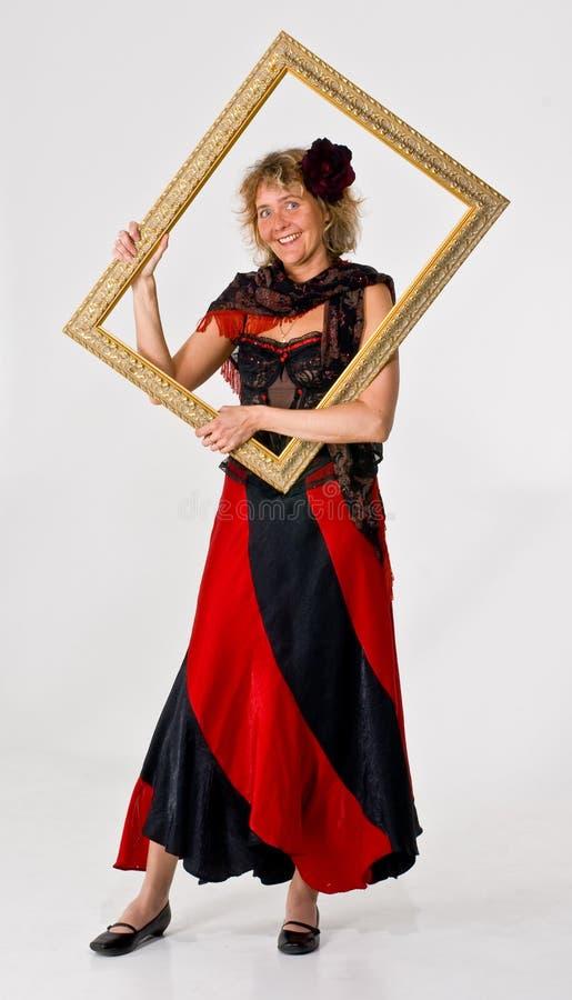 изображение повелительницы удерживания рамки стоковые фото