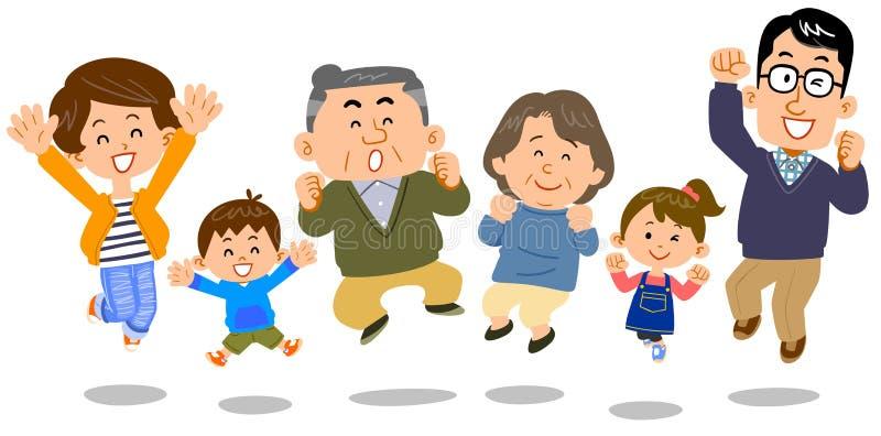 Изображение поколений скача семьи 3 иллюстрация штока