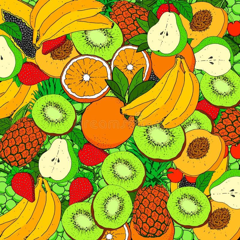 Изображение, полное различных фруктов, идеально подходящих для фона стоковые изображения