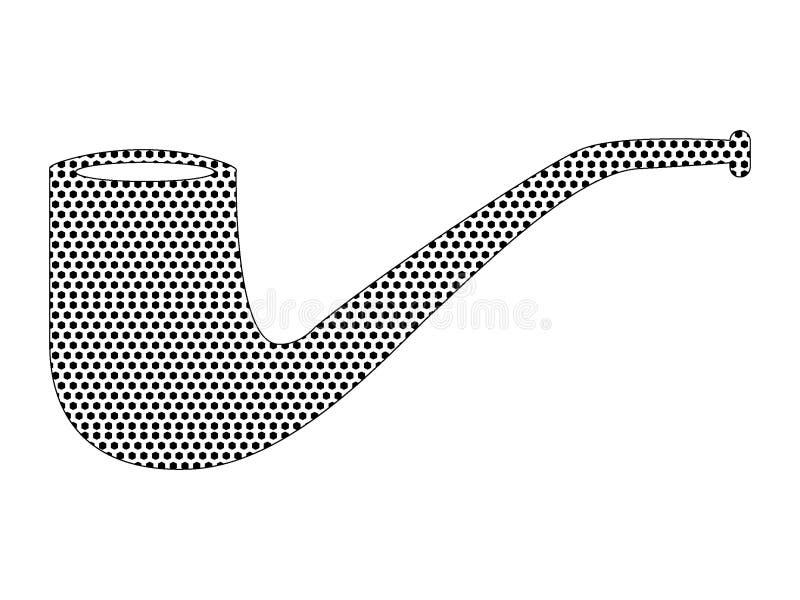 Изображение поставленной точки картины трубы хипстера иллюстрация штока