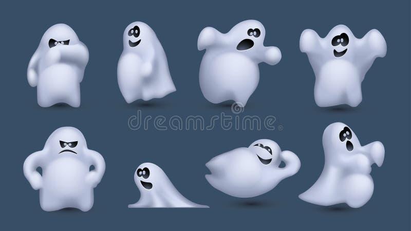 Изображение призраков иллюстрация штока