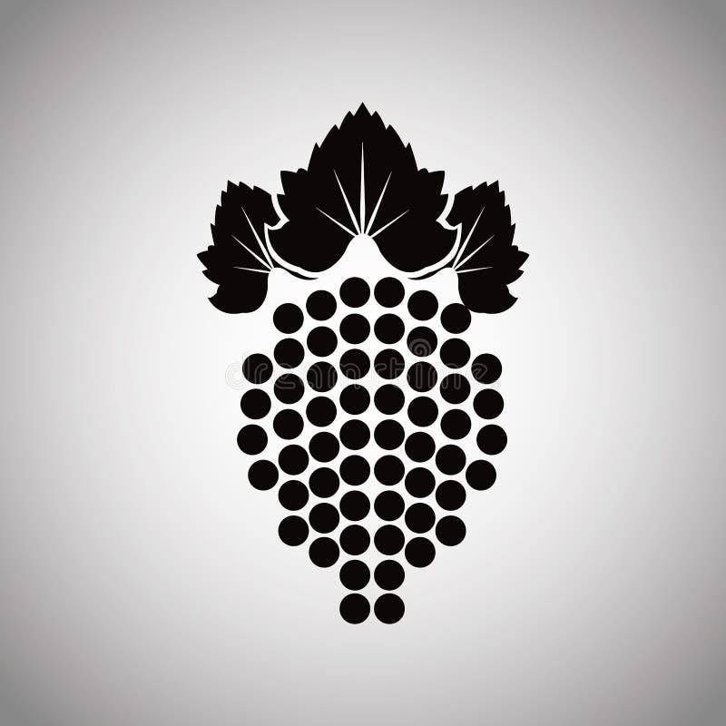 Изображение продукта вина плодоовощ виноградины иллюстрация вектора