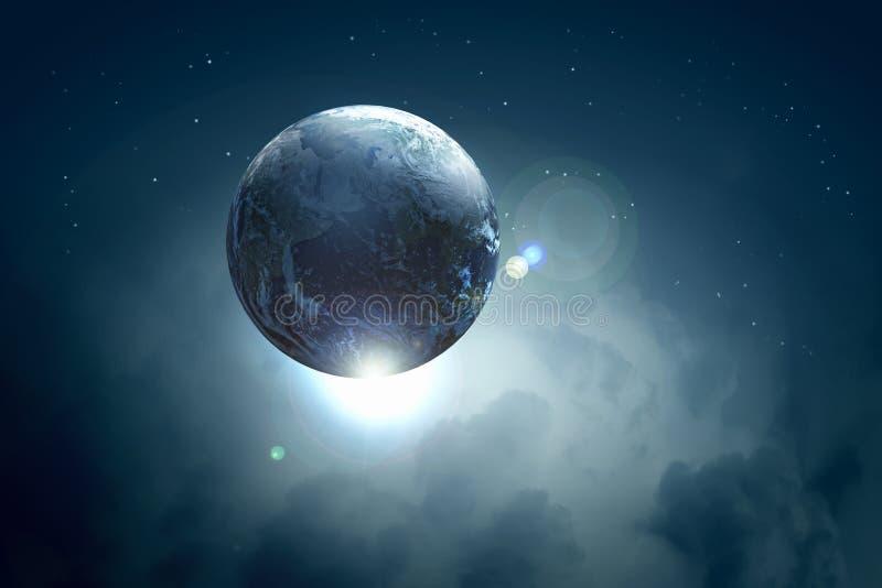 Изображение планеты земли в космосе стоковое фото rf