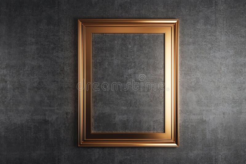изображение рамки золотистое иллюстрация штока