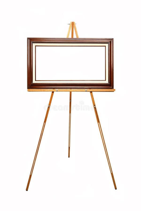 изображение рамки мольберта пустое деревянное стоковая фотография rf