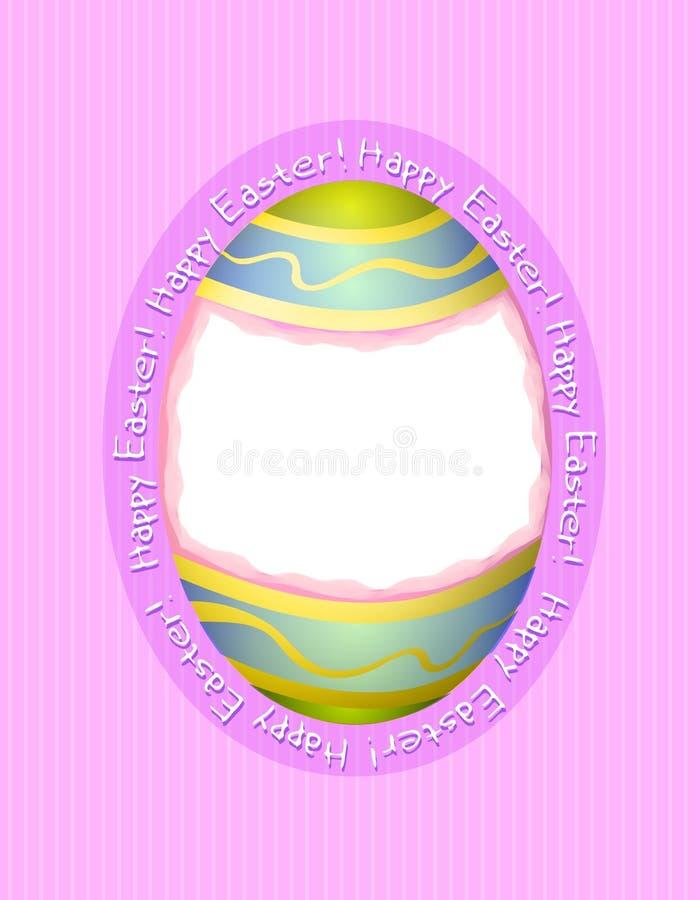 изображение рамки пасхального яйца карточки счастливое иллюстрация вектора