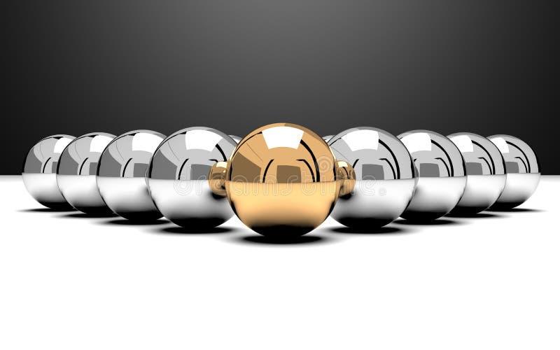 изображение руководителя 3d представило команду бесплатная иллюстрация