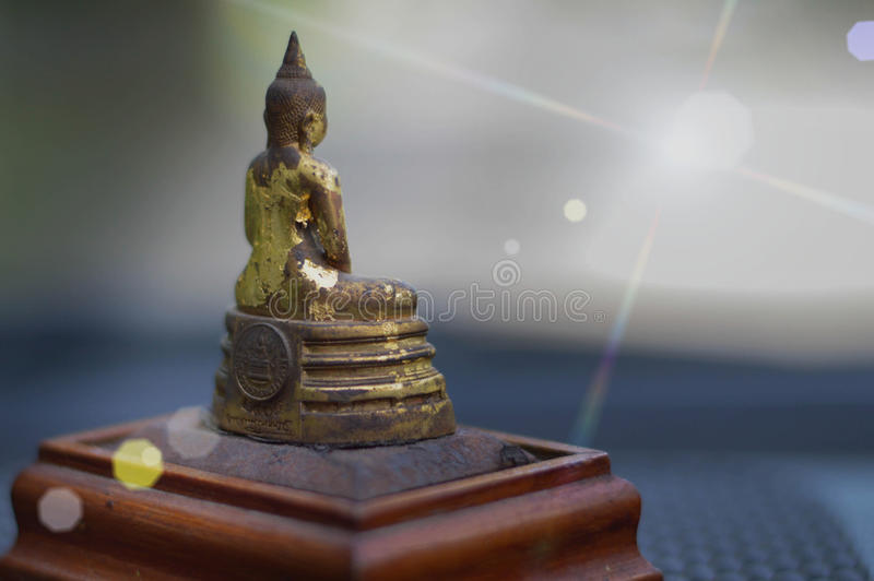 Изображение света Будды отражает стоковые изображения rf
