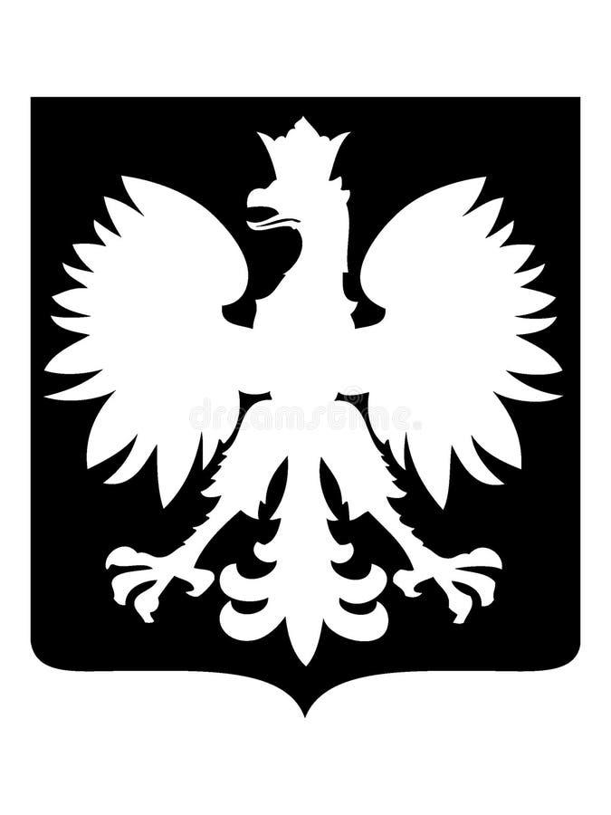 Изображение силуэта символа орла Ensign иллюстрация штока