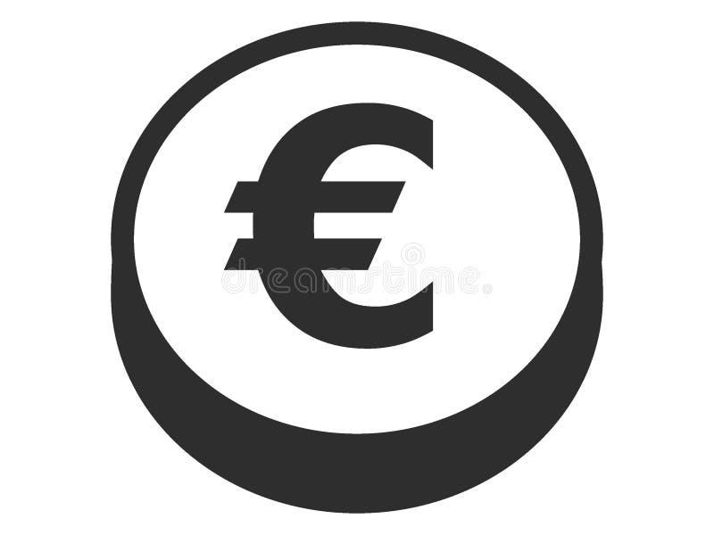 Изображение символа монетки евро иллюстрация вектора