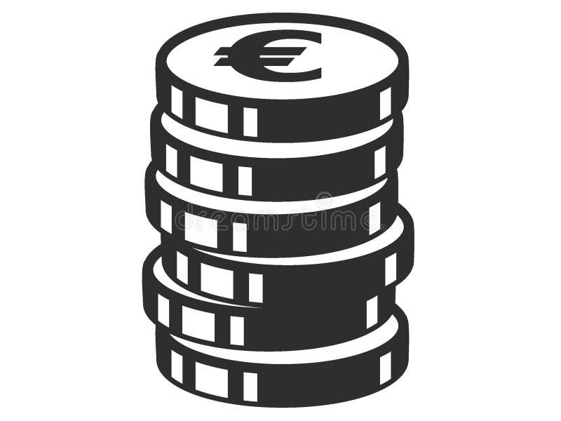 Изображение символа монетки евро бесплатная иллюстрация