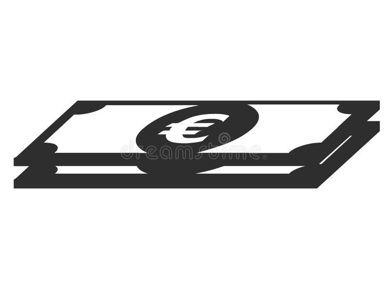 Изображение символа счета евро иллюстрация штока