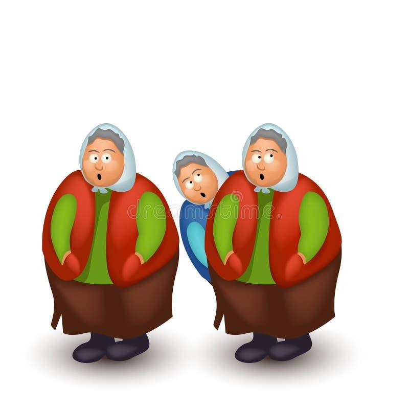 Изображение смешной бабушки бесплатная иллюстрация