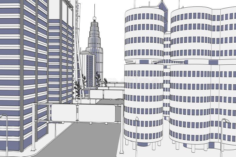 Изображение современного города бесплатная иллюстрация