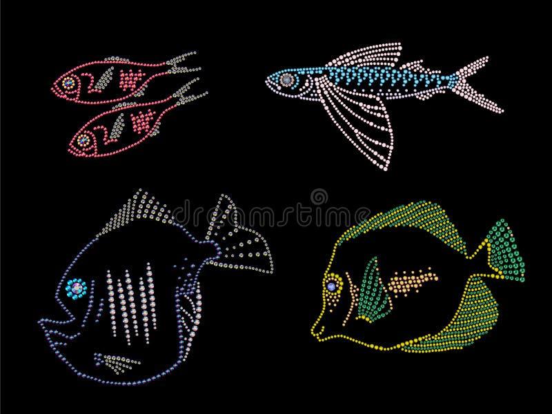 Изображение страза группы в составе рыбы бесплатная иллюстрация