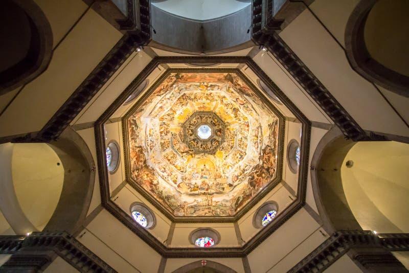 Изображение Судного Дня на потолке купола в Санте Mari стоковые изображения rf