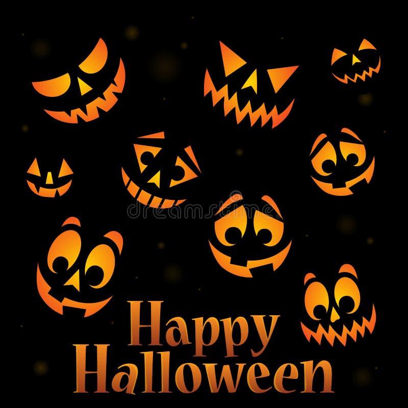 Изображение 5 счастливого знака хеллоуина тематическое иллюстрация вектора