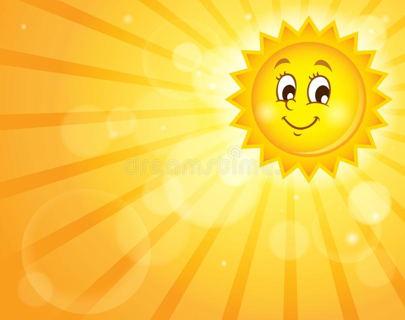 Изображение с счастливой темой 2 солнца иллюстрация штока