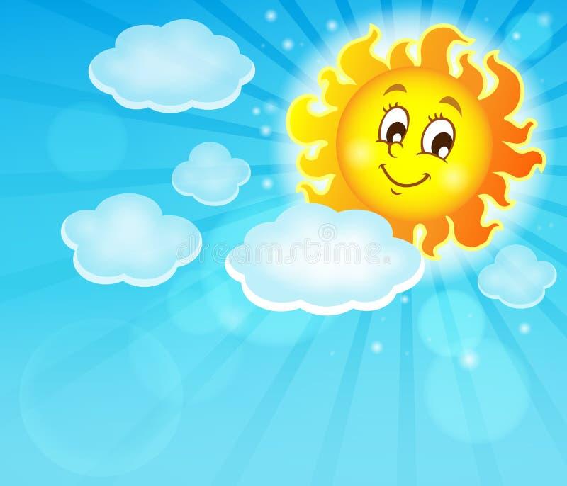 Изображение с счастливой темой 6 солнца бесплатная иллюстрация
