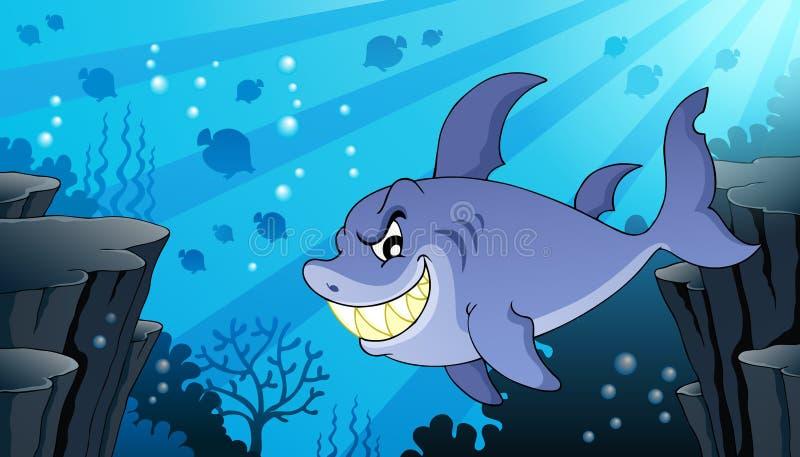 Изображение с темой 2 акулы бесплатная иллюстрация